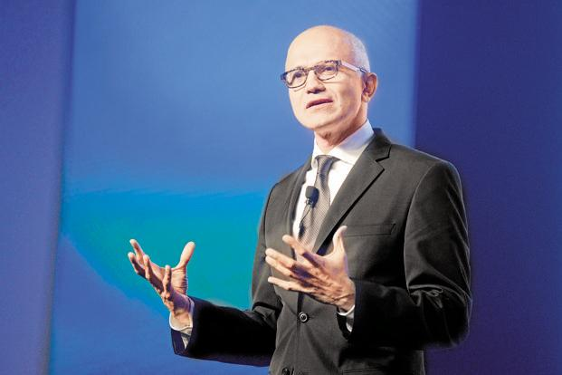 Nadella says Microsoft wants to introduce new types of computers such as the Surface Pro tablet, wearables such as Microsoft Band and mixed reality gadgets such as HoloLens. Photo: Abhijit Bhatlekar/Mint