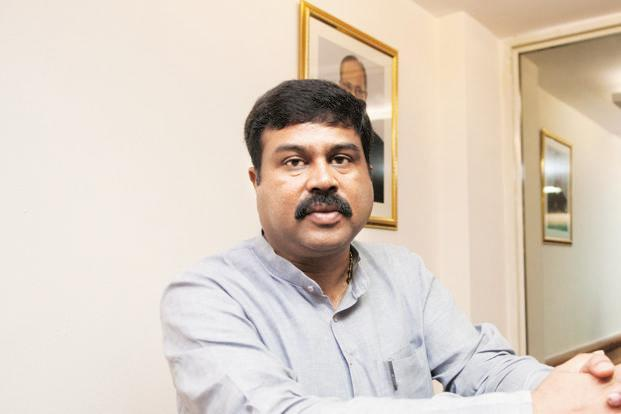 A file photo of petroleum minister Dharmendra Pradhan, who said that he was confident that the government will be able to bring kerosene under DBT. Photo: Sneha Srivastava/Mint