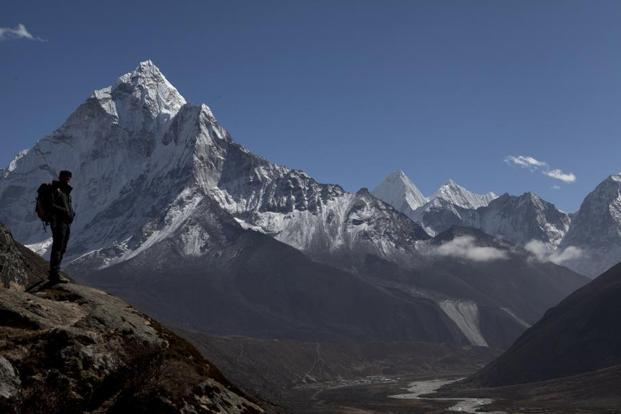 A file photo of the way to the Everest Base camp, above Pheriche valley, Nepal, in the Himalayas. Photo: AP
