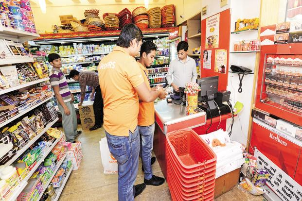 Start-ups such as Grofers and PepperTap recently announced plans to offer consumer companies a platform to display ads on their mobile applications and websites to sustain margins. Photo: Ramesh Pathania/Mint