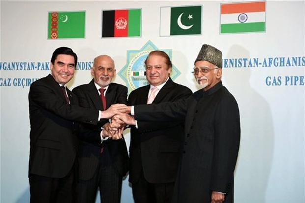 from right to left vice president hamid ansari pakistan prime minister nawaz sharif - Tapi