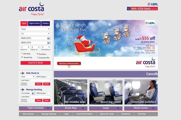 Air Costa, which has 1% market share in domestic passengers, has recently completed two years of commercial operations and carried one million passengers.