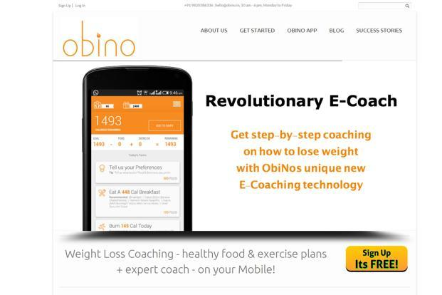 Obino offers weight loss coaching services with the help of nutritionists on its platform.