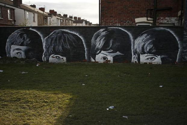 The beatles opens up to online streaming livemint for Beatles abbey road wall mural