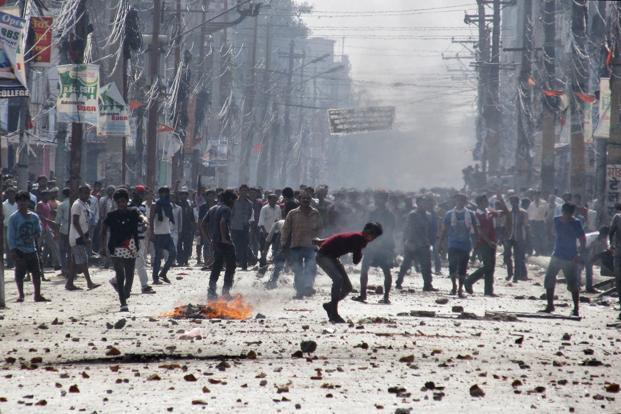 India has emerged as an easy bait as the people of this landlocked nation find themselves pinned to the wall, staring at a hard winter with a looming sense of helplessness as neighbours India and China fight it out for political control. Photo: AP
