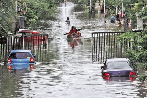 Kancheepuram district registered the heaviest rainfall—183% higher at 181.5 cm as against average rainfall of 64 cm in October-December period. Photo: Reuters