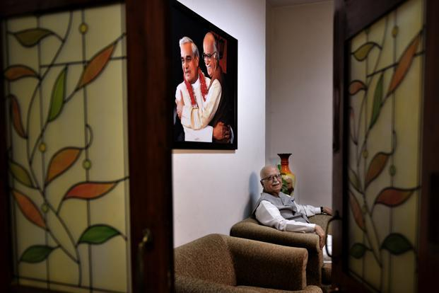 Indian politician and senior leader of the Bharatiya Janata Party, L.K. Advani photographed by Priyanka Parashar in June.