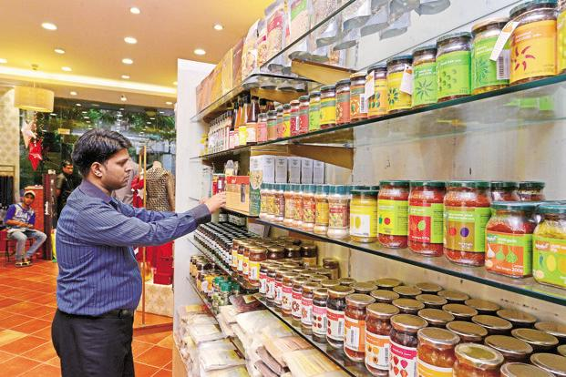 The organic section at a Fabindia store. Higher disposable incomes and greater awareness mean the middle class is willing to shell out more on products they believe are good for health and the environment. Photo: Aniruddha Chowdhury/Mint