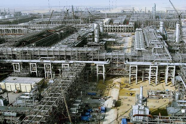 A file photo of Saudi Aramco's al-Khurais oil facility in Saudi Arabia. Saudi Arabia is competing for market share amid a global supply glut that cut prices 35% last year. Photo: AFP
