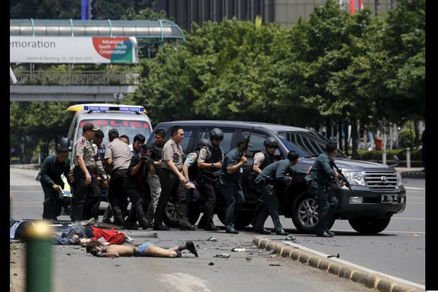 Horrific Pictures Of Serial Blasts In Jakarta Slideshow Livemint