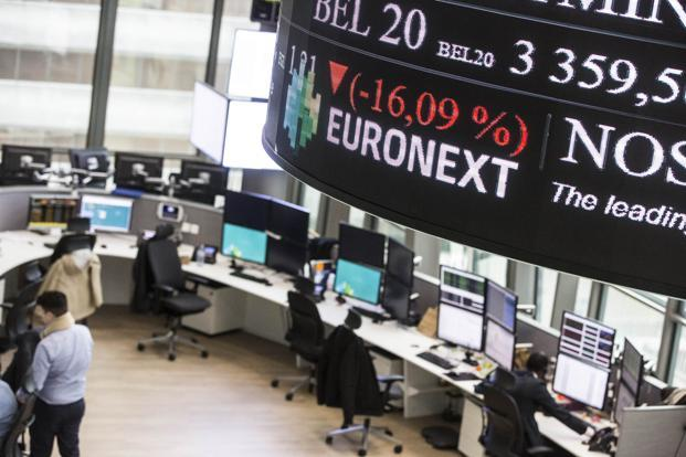 European markets close higher but sterling hovers near 20-month lows