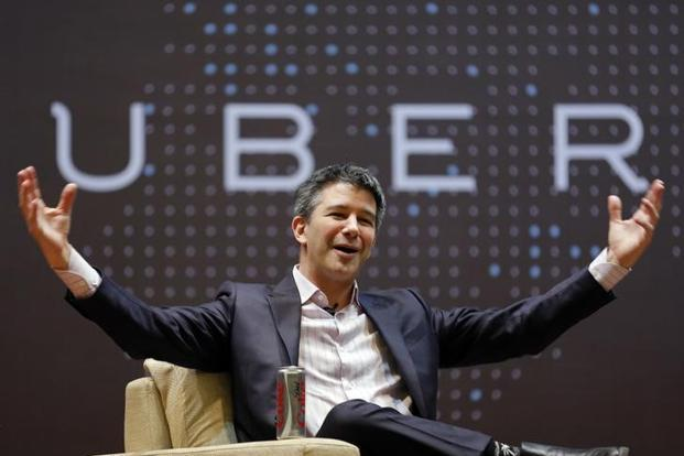 Uber CEO Travis Kalanick speaks to students during an interaction at the Indian Institute of Technology (IIT) campus in Mumbai on Tuesday. Photo: Reuters
