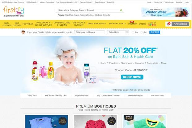 FirstCry offers 1,200 national and international brands with over 90,000 unique products. The range serves the needs of children ranging from new born to six years.