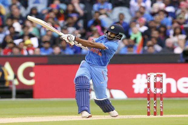 India's Shikhar Dhawan plays one of the many big shots seen during the ongoing Australia-India limited-overs series. Photo: Reuters