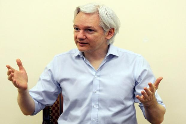 A file photo of WikiLeaks founder Julian Assange, who has been trapped in the Ecuadorian embassy in London since 2012. Photo: AFP