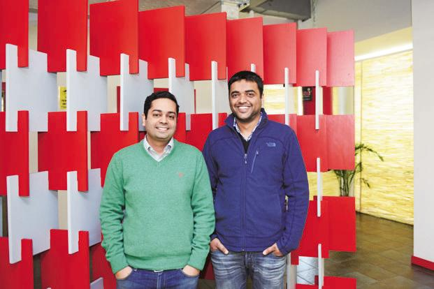 Zomato co-founders Pankaj Chaddah (left) and Deepinder Goyal. Photo: Ramesh Pathania/Mint