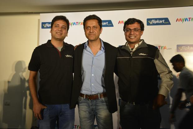 (Left to right) A file photo of Binny Bansal, Mukesh Bansal and Sachin Bansal. Photo: Hemant Mishra/Mint