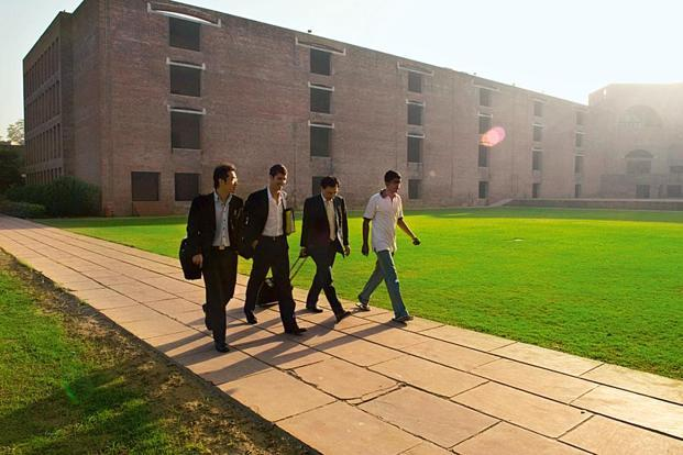 A file photo of recruiters at the IIM-A campus in Ahmedabad. Photo: Mint