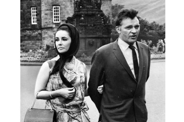 Elizabeth Taylor and husband Richard Burton at Holyroodhouse, Edinburgh, 1963. Photo: SSPL/Getty Images