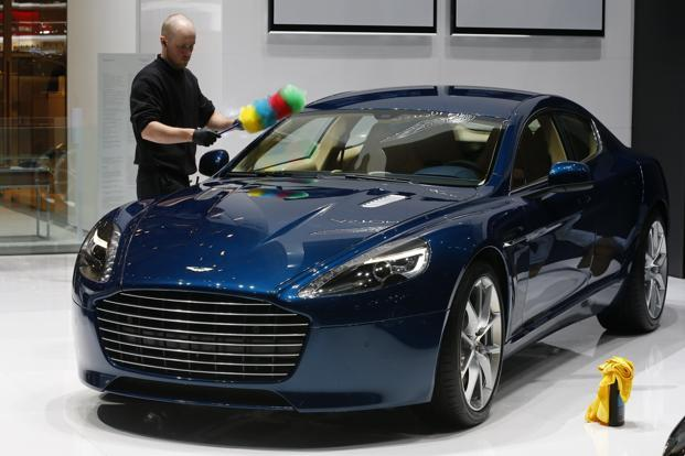 A File Photo Of The Aston Martin S Rapide Model Based On Which Electric