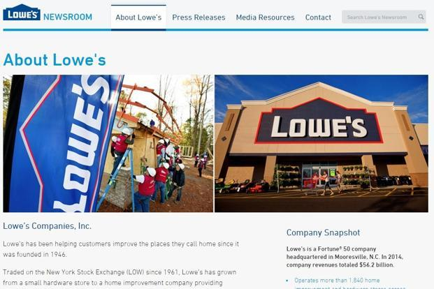 lowes companies inc Get lowe's companies inc (low:nyse) real-time stock quotes, news and financial information from cnbc.
