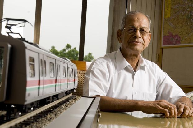 Image result for e sreedharan delhi metro work