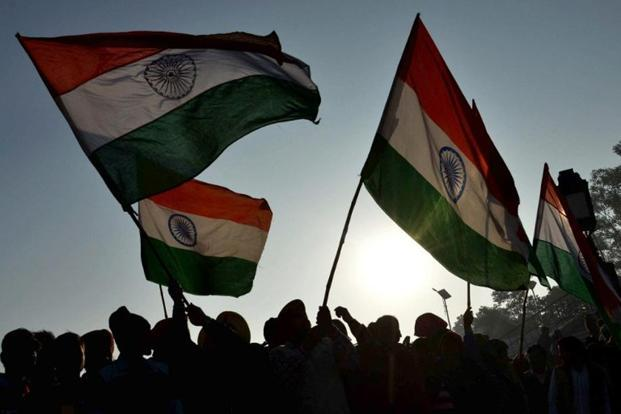The principals may be directed to position the flag post at prominent places preferably in the morning assembly area so that all the students are able to salute the tricolour every day.  Photo: AFP