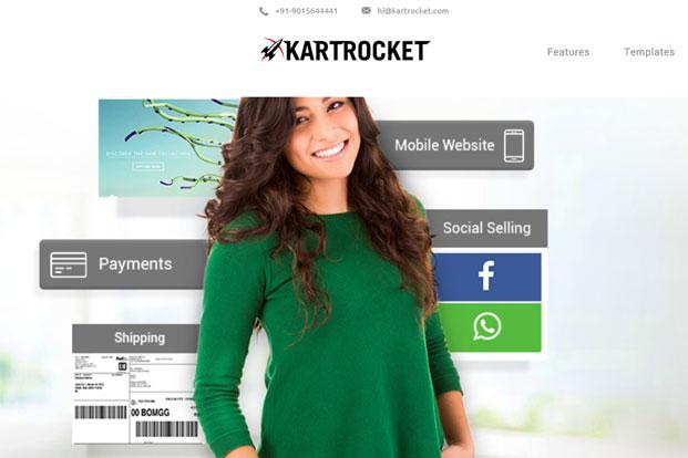 New Delhi-based KartRocket caters to the small and medium enterprises market in India by enabling merchants to go online.
