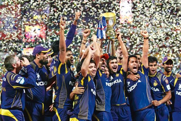 A file photo of Kolkata Knight Riders celebrating after winning the Pepsi IPL 2014 final match. Sony believes that IPL has the ability to bring people together in India. Photo: Hindustan Times