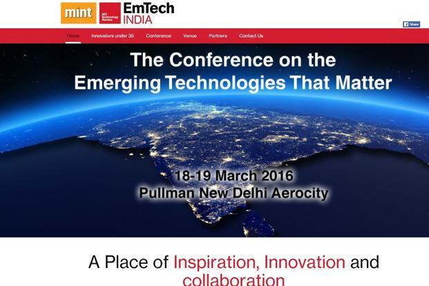 Eight innovators will present a three-minute pitch at the two-day EmTech India 2016, to be held on 18-19 March in New Delhi.