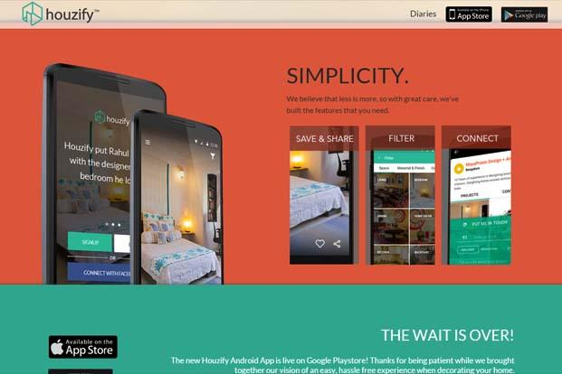 India startup houzify cut off from facebook after us rival for Houzify home designs
