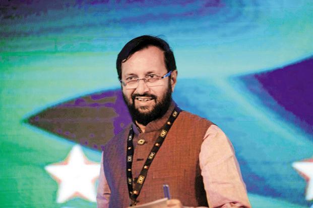 A file photo of environment minister Prakash Javadekar. Photo: Pradeep Gaur/Mint