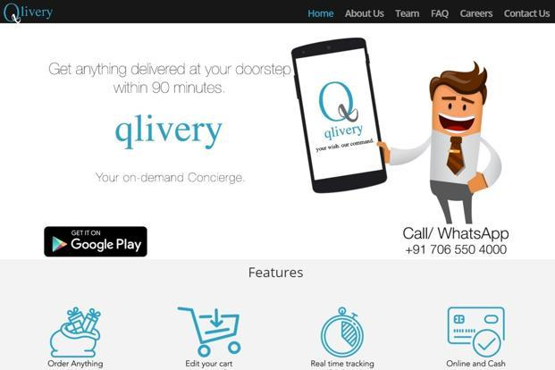 Qlivery which was founded in June 2015 ties up with hotels and offices to provide on-demand concierge service to employees and travelers.