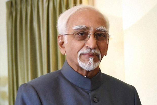 A file photo of vice president Hamid Ansari. Photo: PTI