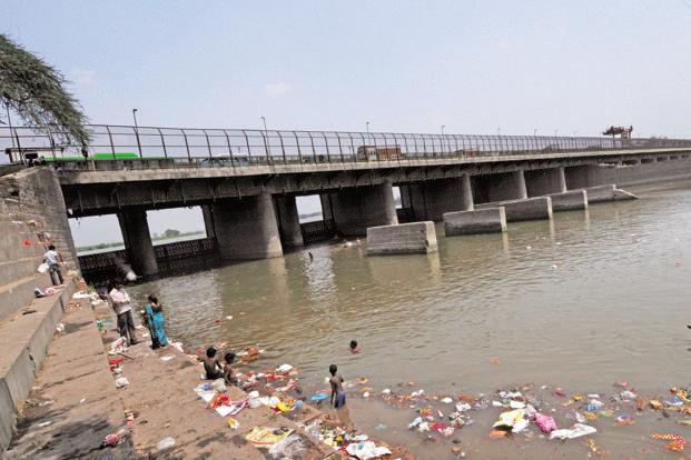 A file photo of a polluted Yamuna. Photo: Mint
