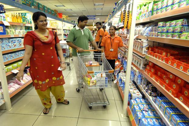 Packaged consumer goods industry growth across categories from biscuits to detergents has slowed to 5-6% in January and February, down from 11-12% in the March 2015 quarter, according to analysts' data. Photo: Abhijit Bhatlekar/Mint