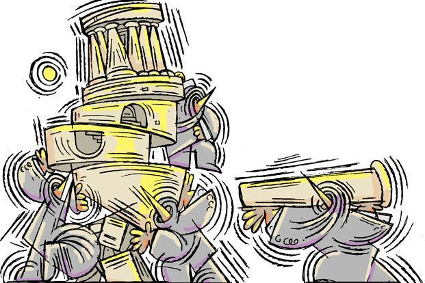 A verdict of the Supreme Court or a law on anti-defection are not watertight solutions. Illustration: Jayachandran/Mint