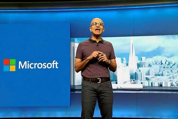 A file photo of Microsoft chief executive officer Satya Nadella, who announced the deal at the company's Envision conference on Monday. Photo: AP