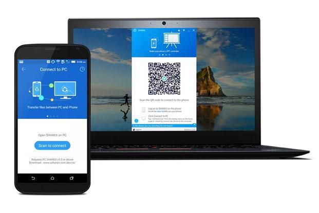 SHAREit allow users to share files from a smartphone to a PC and vice-versa