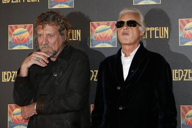 File photo of Led Zeppelin singer Robert Plant (L) and guitarist Jimmy Page. Photo: Reuters