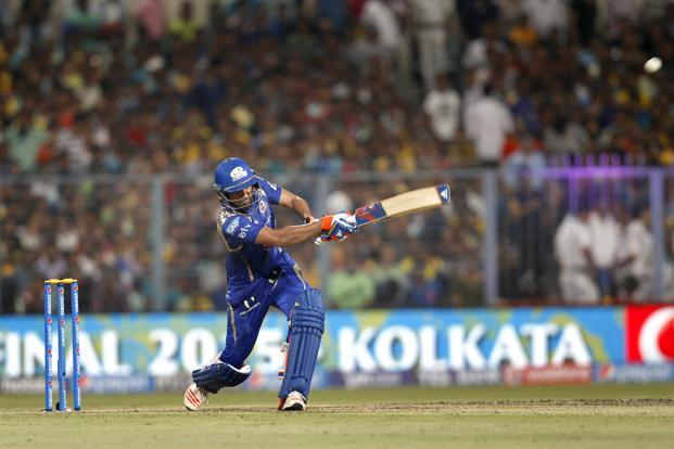 A file photo of Rohit Sharma playing against Chennai Super Kings during the IPL T20 Season 8 final match at Eden Gardens in Kolkata, India. Photo: Ajay Aggarwal/Hindustan Times)
