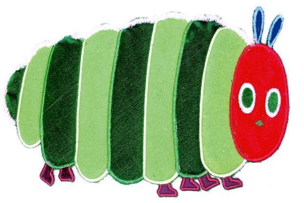 The tactile version of The Very Hungry Caterpillar. Photo courtesy Karadi Tales