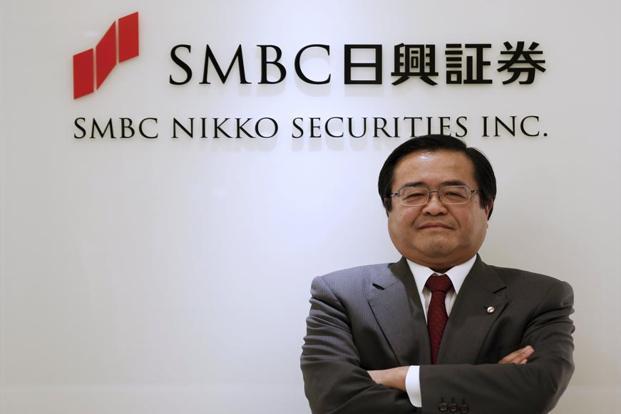 A file photo of Yoshihiko Shimizu, President and CEO Of SMBC Nikko Securities. Photo: Reuters