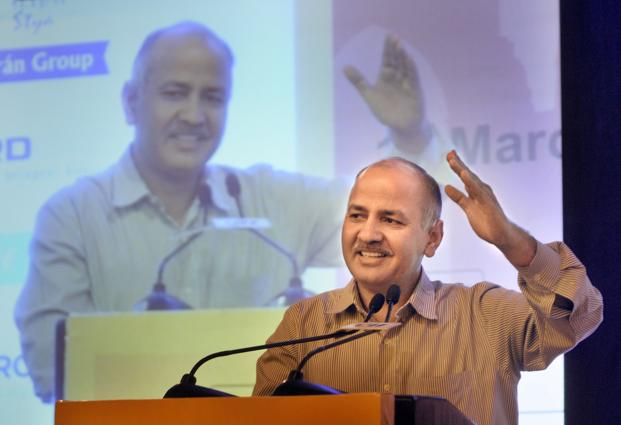 Deputy CM Manish Sisodia directed DoE to take necessary action against the 'errant' schools that have not only hiked fees but also 'compelled' students to buy books from private publishers. Photo: Hindustan Times