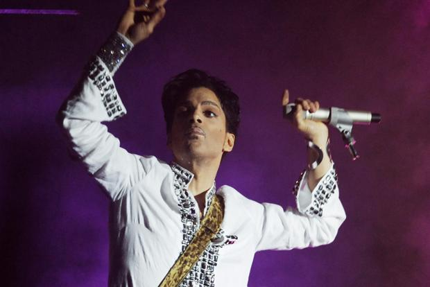 A file photo of Prince at a performance in 2008. Photo: AP