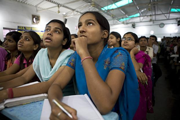 A file photo of students at a coaching centre. Photo: Mint