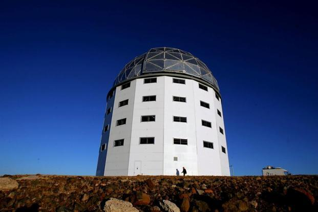 A file photo of the dome housing the Southern African Large Telescope, located near Sutherland in South Africa's Karoo region. Photo: Reuters