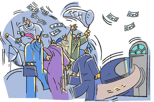 Around 48 million people filed income tax returns in fiscal year 2015; the effective number is perhaps even less given the fact that many of them had zero tax liabilities. Illustration: Shyamal Banerjee
