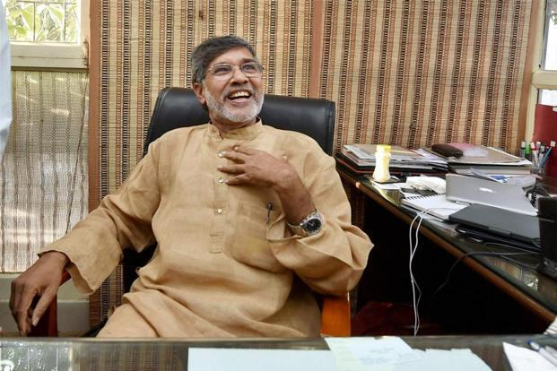 A file photo of Kailash Satyarthi, who said the Marathwada region has seen 1,400 farm suicides since January and about 3,500 children were pushed into child labour and trafficking. Photo: PTI