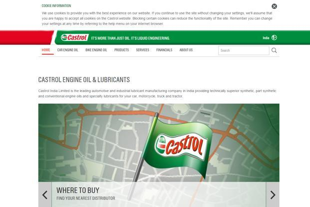 Apart from better volume, lower crude oil prices also helped Castrol's profitability.
